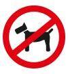 Zutritt für Hunde nicht erlaubt auf dem ganzen Gelände